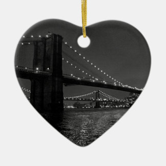 Brooklyn Bridge At Night Christmas Ornament