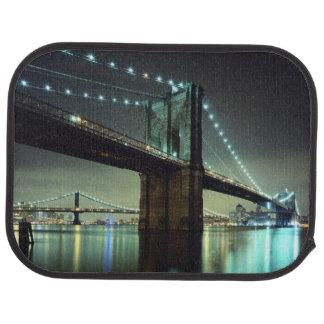 Brooklyn Bridge at night  Manhattan Bridge Car Mat