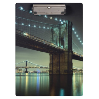 Brooklyn Bridge at night  Manhattan Bridge Clipboard