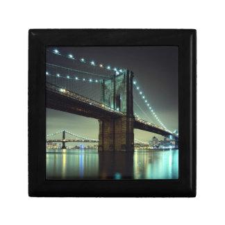 Brooklyn Bridge at night  Manhattan Bridge Gift Box
