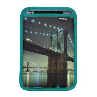 Brooklyn Bridge at night  Manhattan Bridge iPad Mini Sleeve