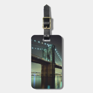 Brooklyn Bridge at night  Manhattan Bridge Luggage Tag