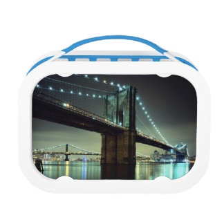 Brooklyn Bridge at night  Manhattan Bridge Lunch Box