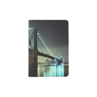 Brooklyn Bridge at night  Manhattan Bridge Passport Holder