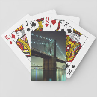 Brooklyn Bridge at night  Manhattan Bridge Playing Cards