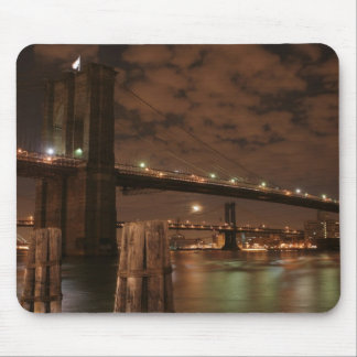 Brooklyn Bridge at Night Mouse Mat