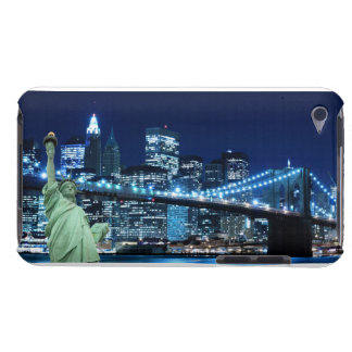 Brooklyn Bridge at Night, New York City Barely There iPod Covers