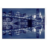 Brooklyn Bridge at Night, New York City Card