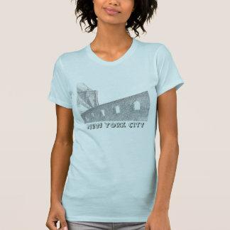 Brooklyn Bridge At Night, New York City T Shirts