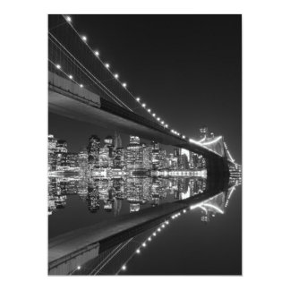 Brooklyn Bridge at Night, New York Invitation