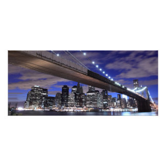 Brooklyn Bridge at Night, New York Personalised Announcements