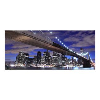 Brooklyn Bridge at Night New York Invitations