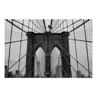 Brooklyn Bridge B&W Poster