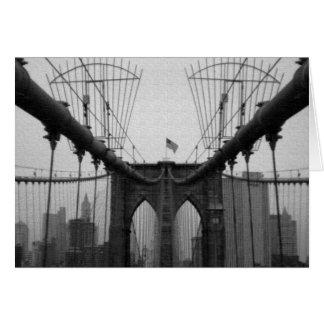 Brooklyn Bridge Black and White Card
