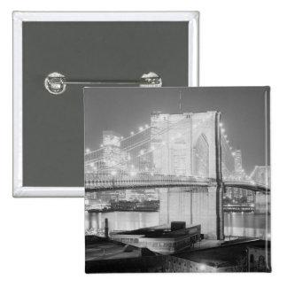 Brooklyn Bridge Black & White Buttons
