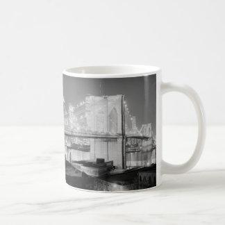 Brooklyn Bridge Black & White Coffee Mug