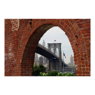 Brooklyn Bridge Brick Arch Poster