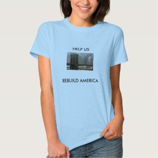 brooklyn-bridge-buff, HELP USREBUILD AMERICA Tshirts