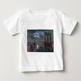 Brooklyn Bridge by Moonlight Baby T-Shirt