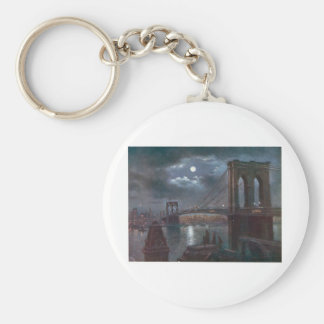 Brooklyn Bridge by Moonlight Key Ring