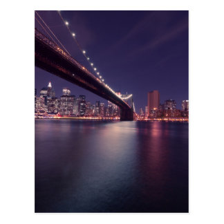 Brooklyn bridge by Night Postcard