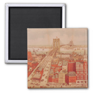 Brooklyn Bridge, c.1883 Magnet