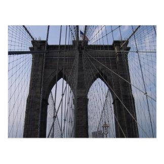 Brooklyn Bridge Cables Post Card