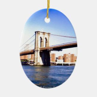 Brooklyn Bridge Ceramic Oval Decoration