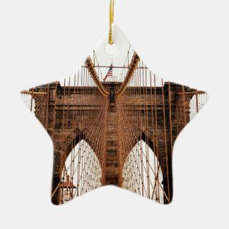 Brooklyn Bridge Ceramic Star Decoration