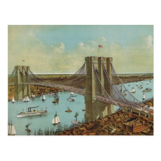 Brooklyn Bridge Color Postcard