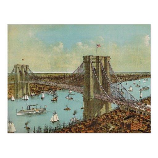 Brooklyn Bridge Color Postcard