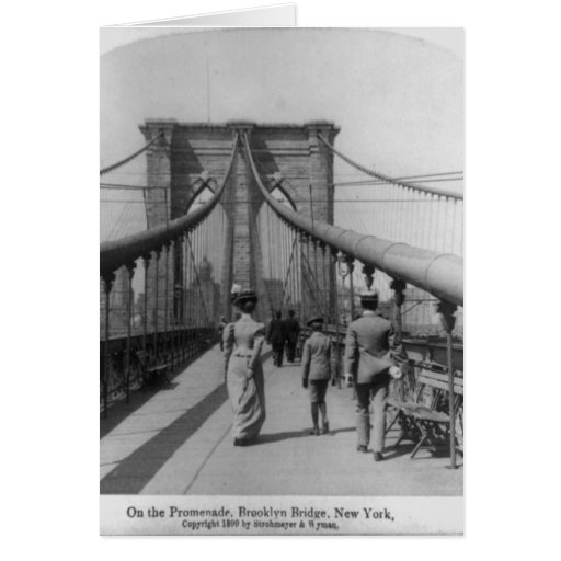 Brooklyn Bridge Crossing Greeting Cards