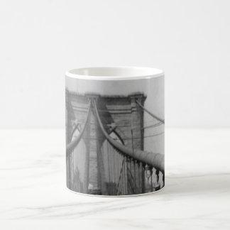 Brooklyn Bridge Crossing Coffee Mug