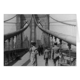 Brooklyn Bridge Crossing Greeting Card
