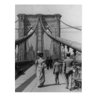 Brooklyn Bridge Crossing Postcard