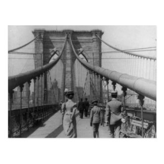 Brooklyn Bridge Crossing Postcard