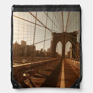 Brooklyn Bridge. Drawstring Bag