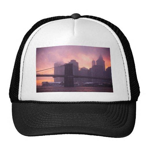 Brooklyn Bridge During Snowstorm Hats