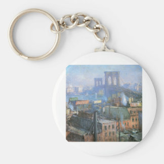Brooklyn Bridge, East River, circa 1916 Key Ring