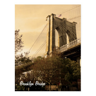 Brooklyn Bridge from Brooklyn (customise it!) Postcard