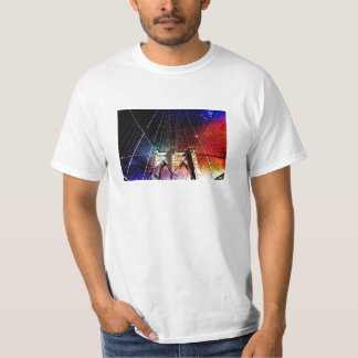 Brooklyn Bridge - Galaxies - NYC T-Shirt