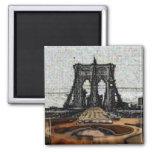 Brooklyn Bridge & Guitar Fridge Magnet
