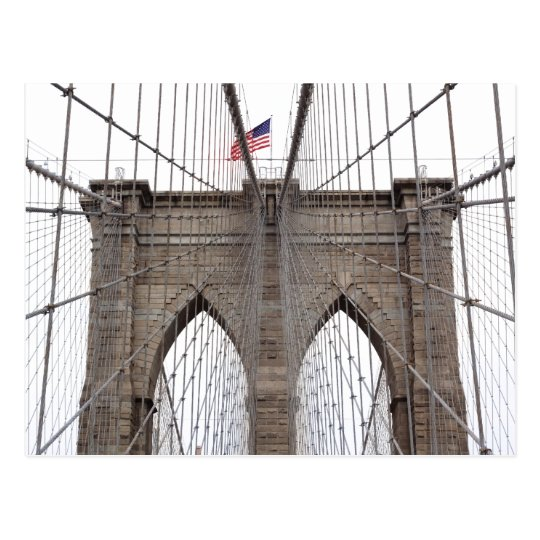 Brooklyn Bridge in New York City Postcard