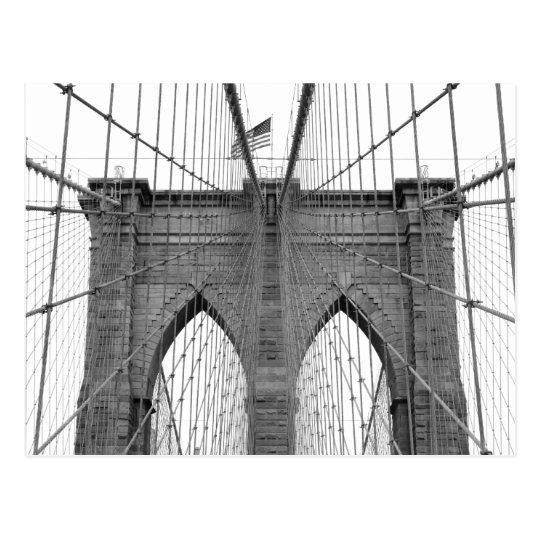 Brooklyn Bridge in New York City Postcard