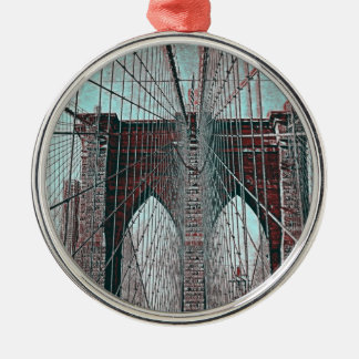 Brooklyn Bridge in NYC Christmas Ornament