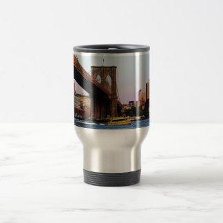 Brooklyn Bridge in NYC Original Photo Travel Mug
