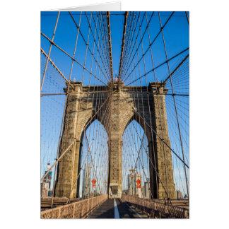 Brooklyn Bridge in the early morning Card