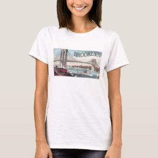Brooklyn Bridge Ladies Baby Doll (Fitted) T-Shirt