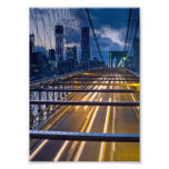 Brooklyn Bridge Lights at Night Photo
