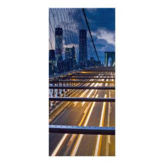 Brooklyn Bridge Lights at Night Personalized Rack Card